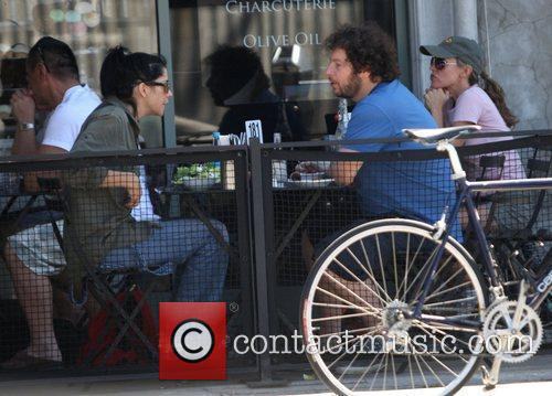Jeffrey Ross and Sarah Silverman having lunch at...