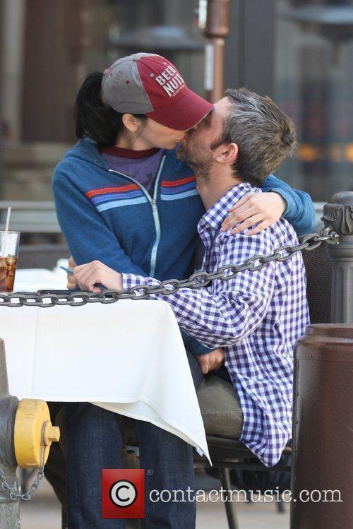 Sarah Silverman  and her new boyfriend kiss...