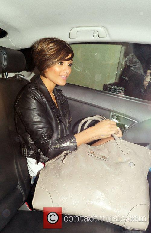 The Saturdays star Frankie Sandford arrives for a...