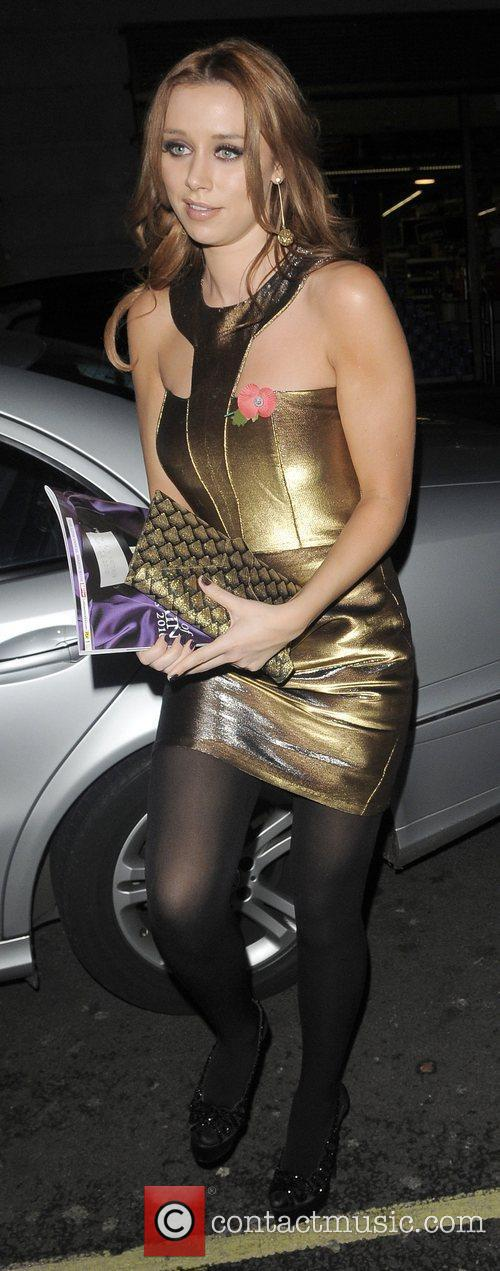 Una Healy from girl group 'The Saturdays' arriving...