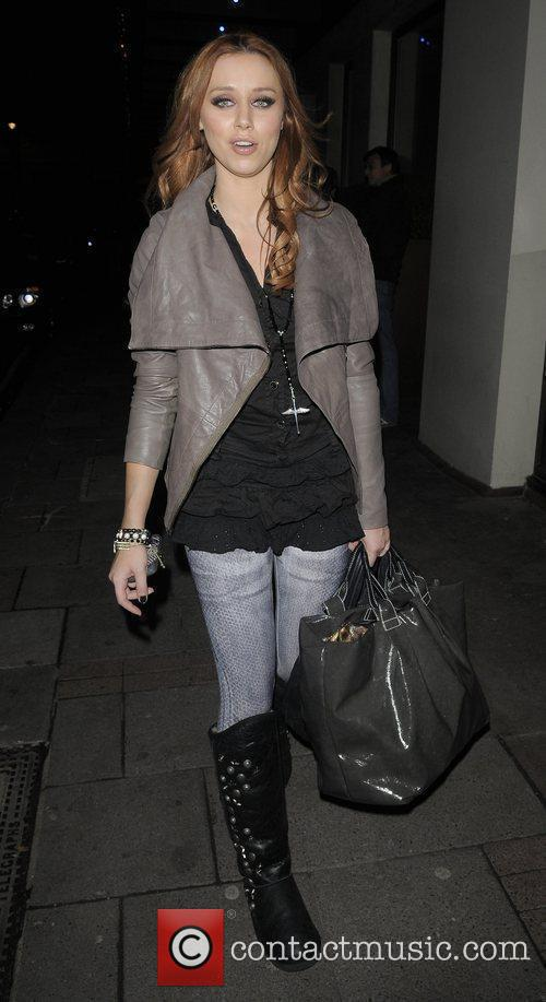 Una Healy from girl group 'The Saturdays' leaving...