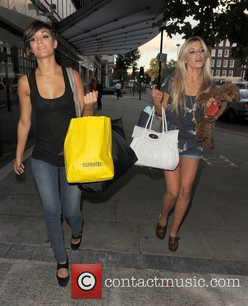 Frankie Sandford and Mollie King from girl group...