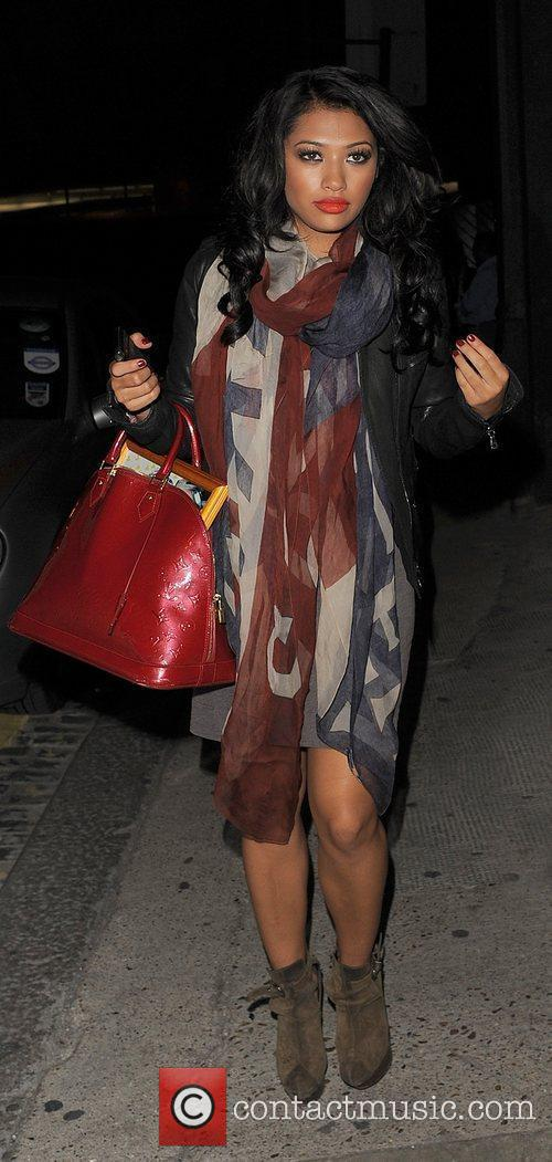 Vanessa White from girl group The Saturdays spends...