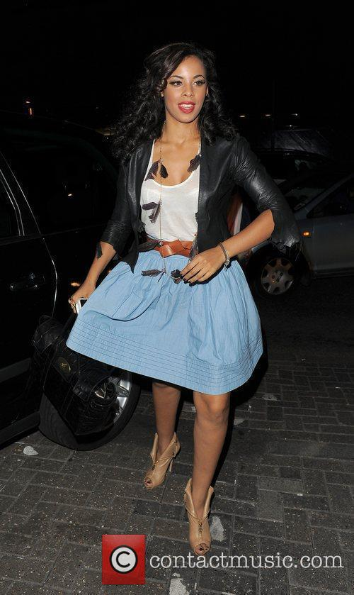 Rochelle Wiseman from girl group The Saturdays spends...