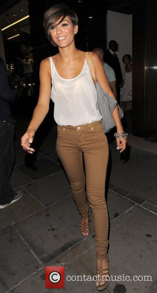 Frankie Sandford of pop group The Saturdays, leaves...