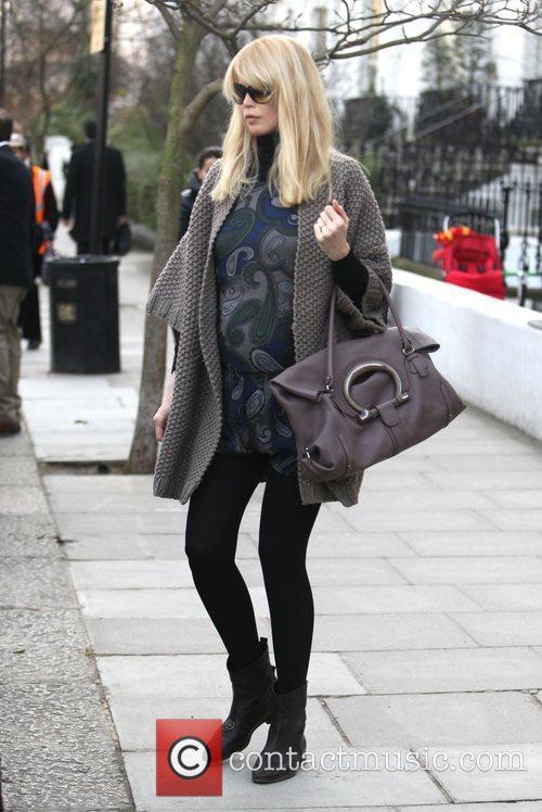Claudia Schiffer takes her children to school London,...