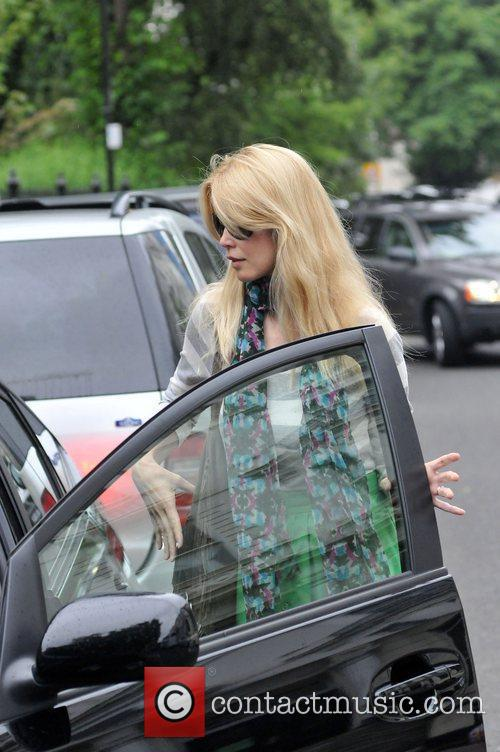 Claudia Schiffer after taking her son to school...