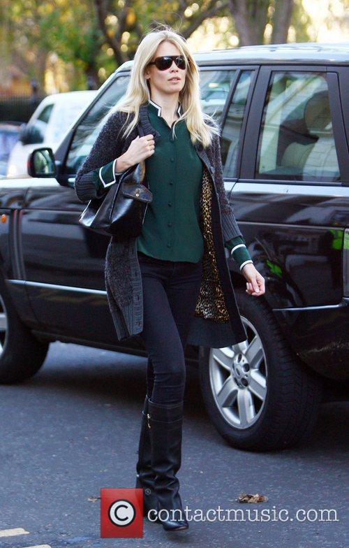 Claudia Schiffer  after dropping her children at...