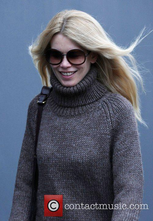 Claudia Schiffer after dropping her children at school...