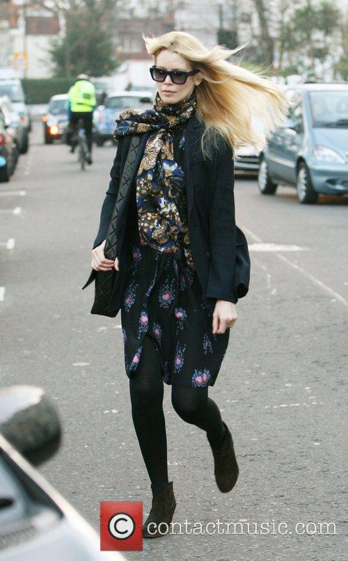 Claudia Schiffer after dropping her daughter off at...
