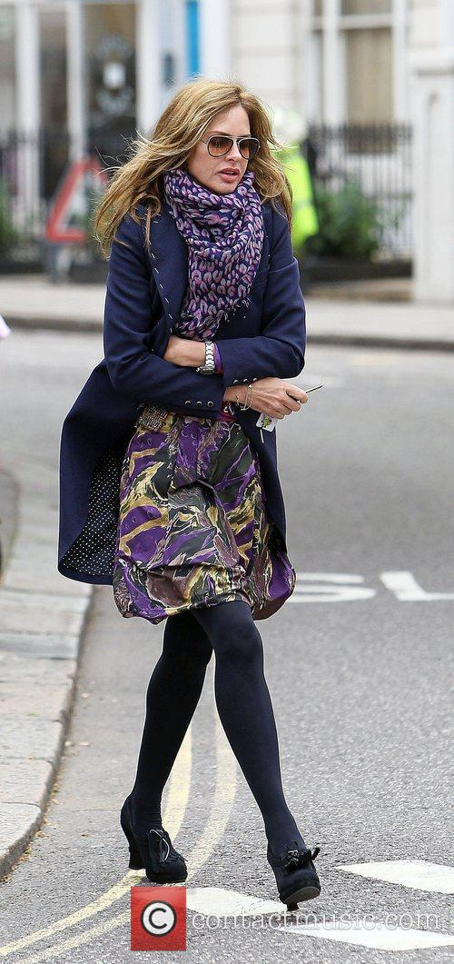 Trinny Woodall after taking her daughter to school...