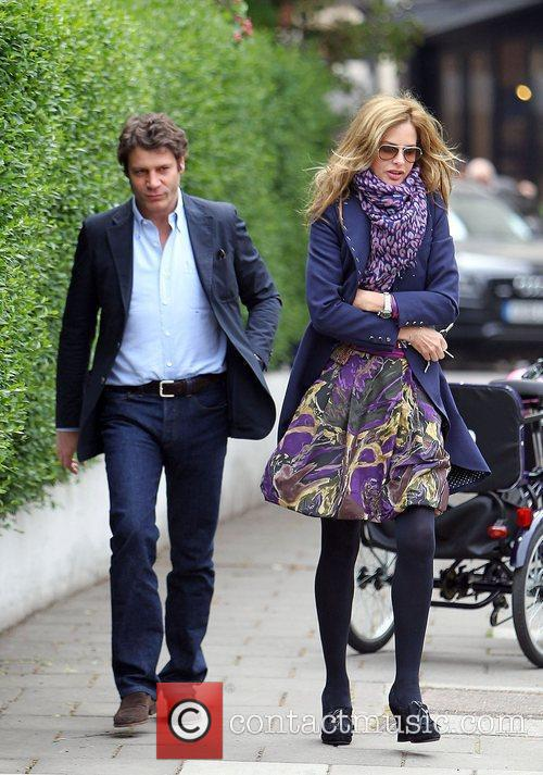 Trinny Woodall and her boyfriend Stefano Bonfiglio after...