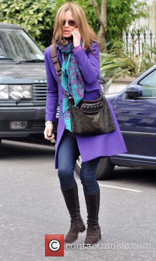 Trinny Woodall after dropping her children at school...