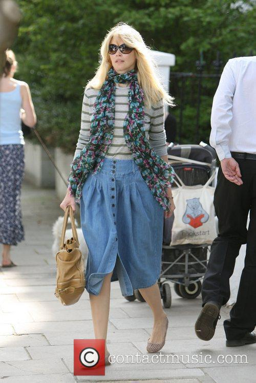 Claudia Schiffer after dropping her son at school