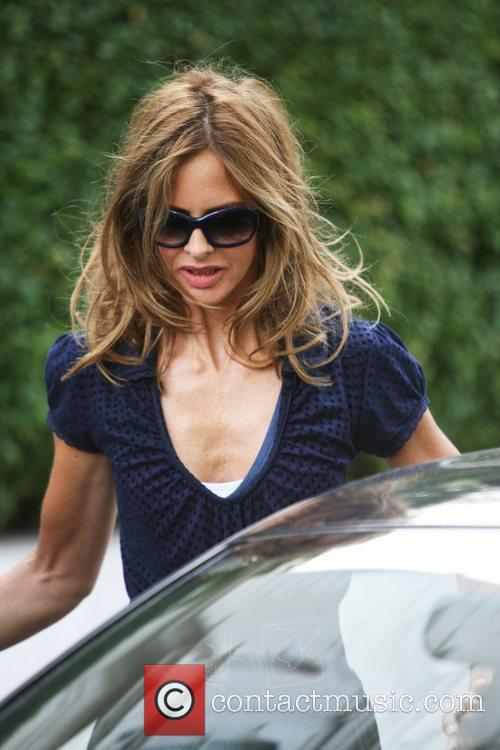 Trinny Woodall after dropping her daughter at school...