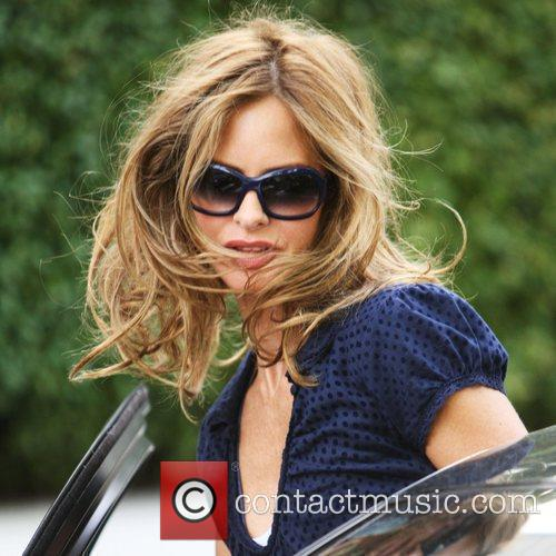 Trinny Woodall after dropping her daughter at school