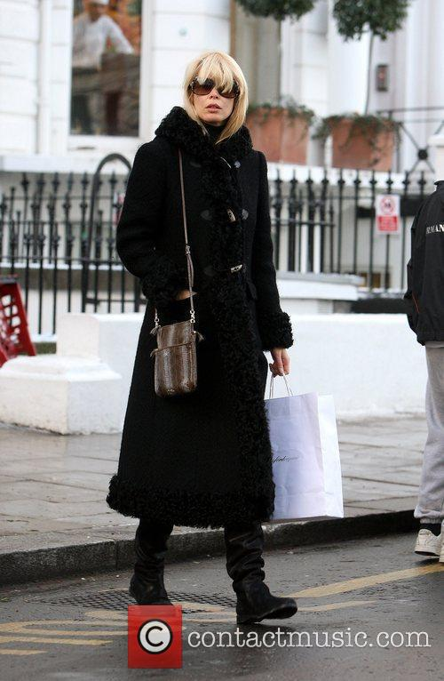 Claudia Schiffer returns from dropping her son at...