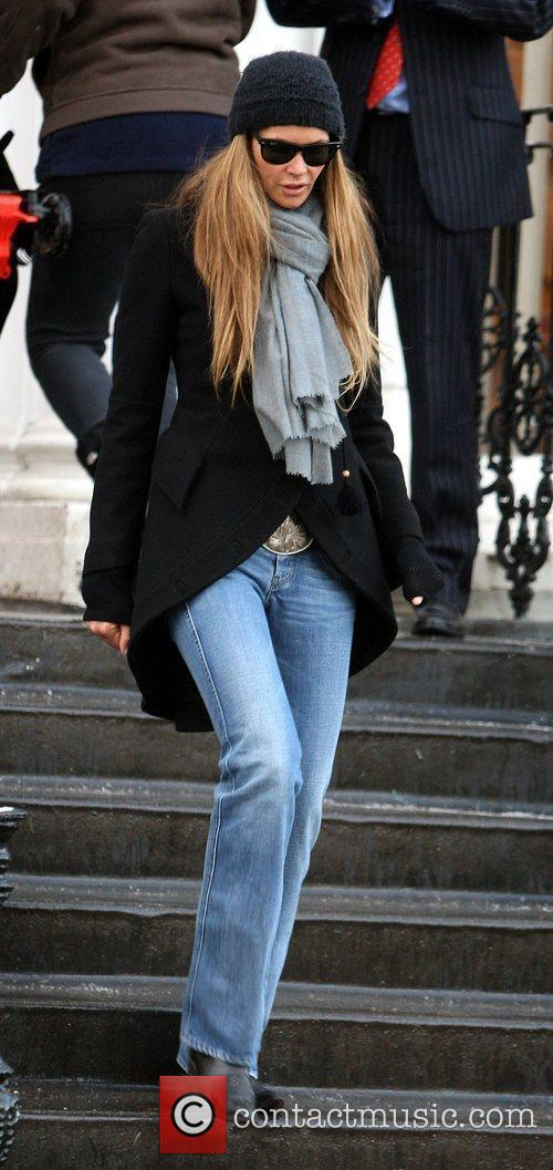 Elle Macpherson returns from the school run London,...