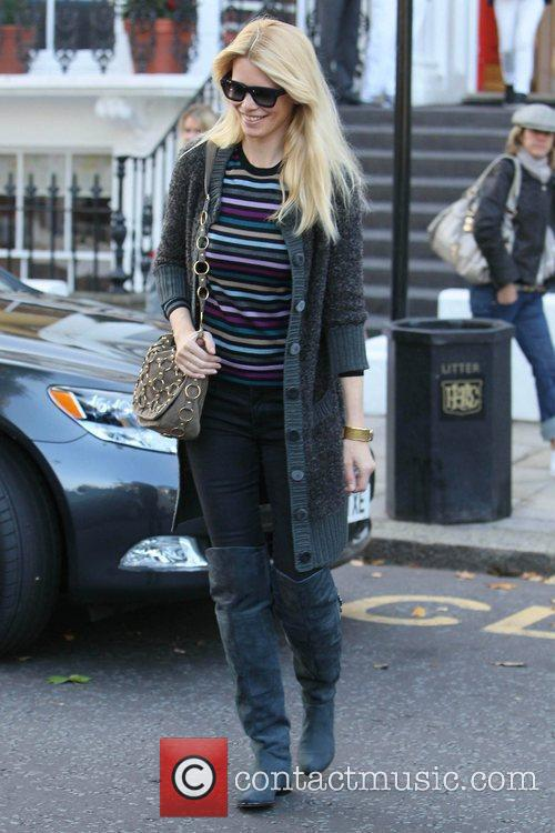 Claudia Schiffer returns home after dropping her son...