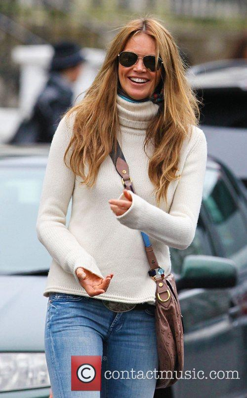 Elle Macpherson after dropping her children off at...