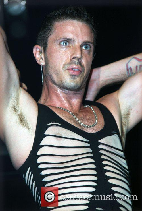 Jake Shears of the Scissor Sisters performing live...