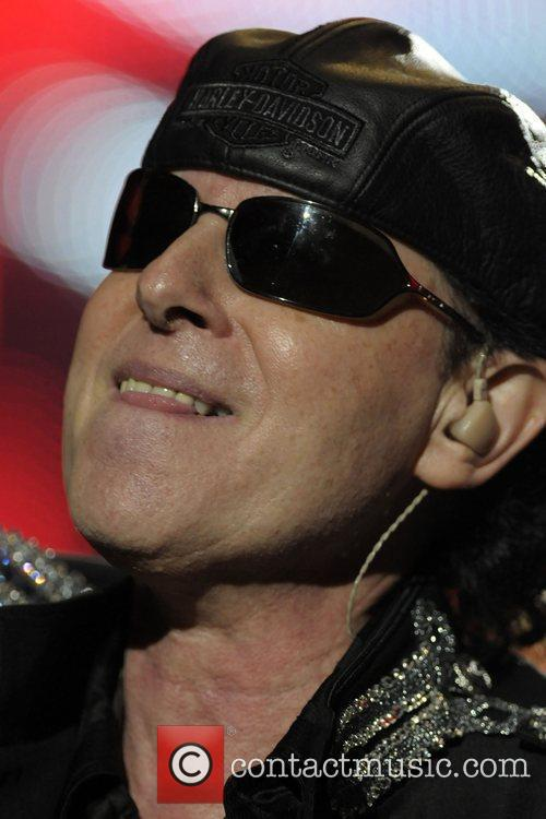 Scorpions performing at the Molson Canadian Amphitheatre during...