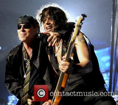 Klaus Meine and Pawel Maciwoda Scorpions performing at...