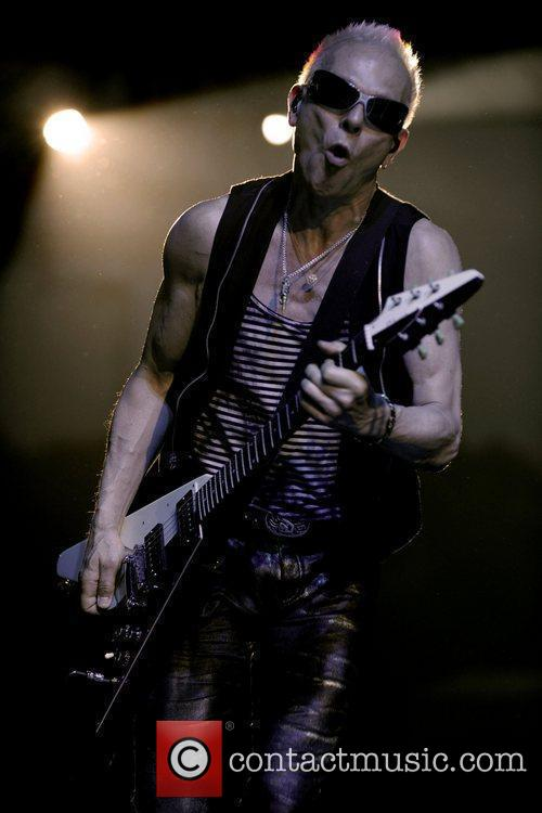 Rudolf Schenker Scorpions performing at the Molson Canadian...