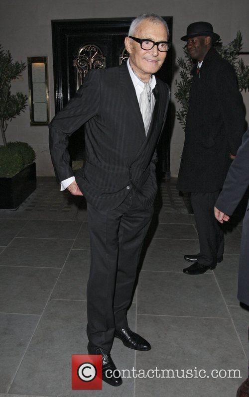 Vidal Sassoon leaving Scotts restaurant
