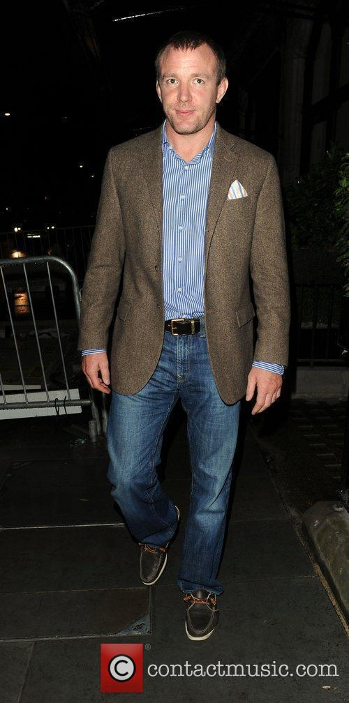 Guy Ritchie leaving Scotts restaurant