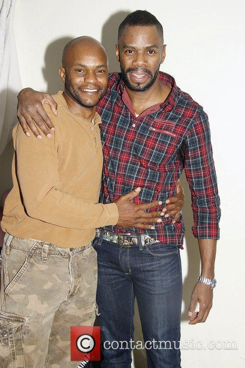 Forrest McClendon and Colman Domingo  First rehearsal...