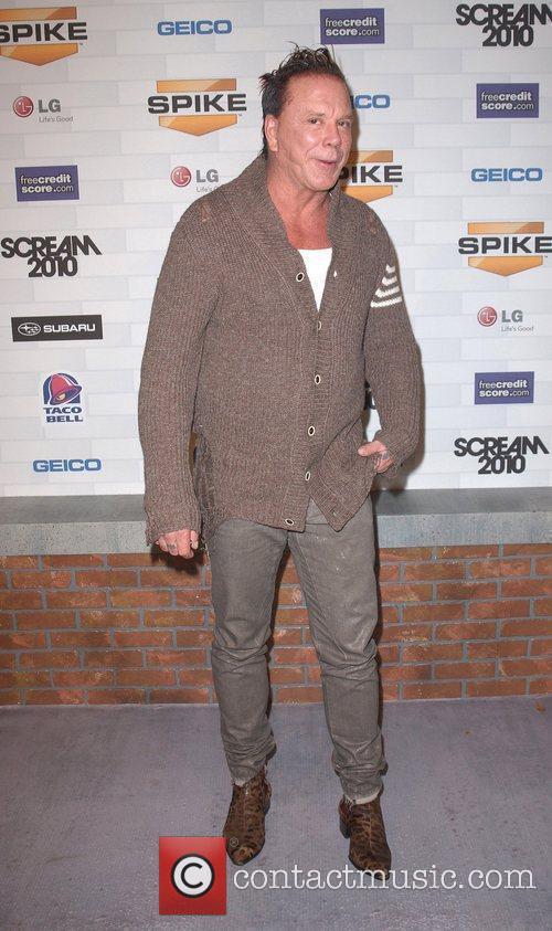 Mickey Rourke Spike TV's 'Scream 2010 Awards' at...