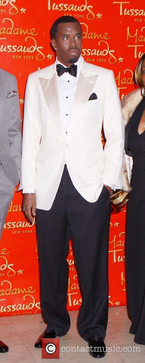 Sean Diddy Combs wax figure at the unveiling...