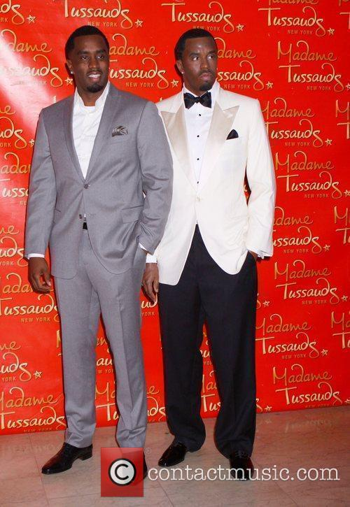 Sean Diddy Combs with his wax figure at...