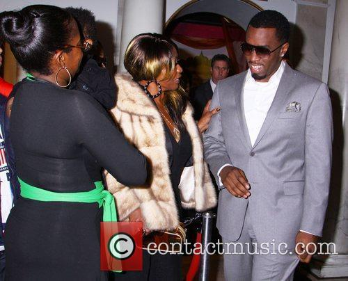 Sean Diddy Combsand hi smother Janice Combs at...