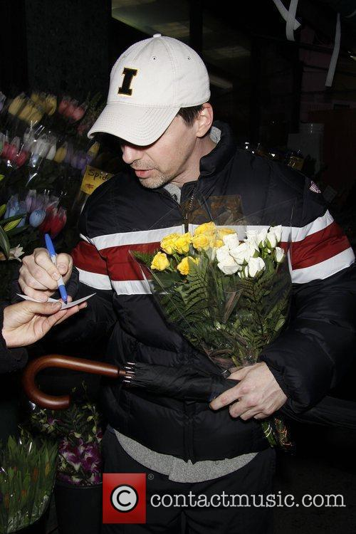 Buying flowers on Eighth Avenue after rehearsing for...