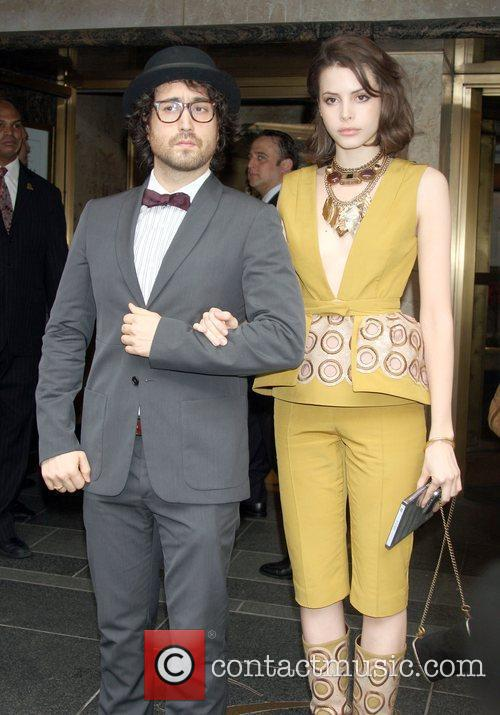With girlfriend Kemp Muhl, out for a night...