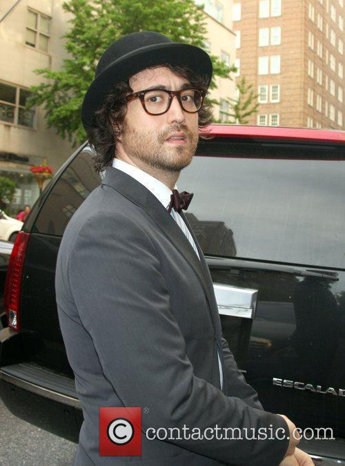 Socialite Sean Lennon with girlfriend Kemp Muhl, out...