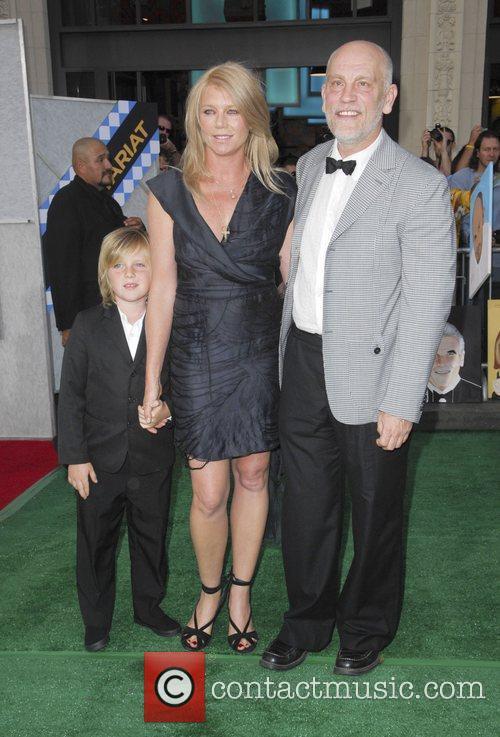 John Malkovich, Peta Wilson and son Marlowe Premiere...