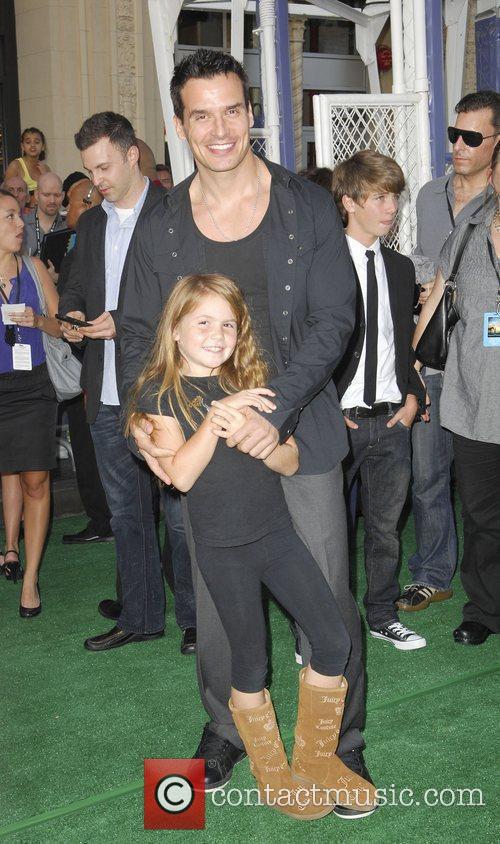 Antonio Sabato Jr. and daughter Premiere of Walt...