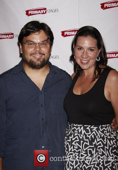 Bobby Lopez and Kristen Anderson Lopez Opening night...