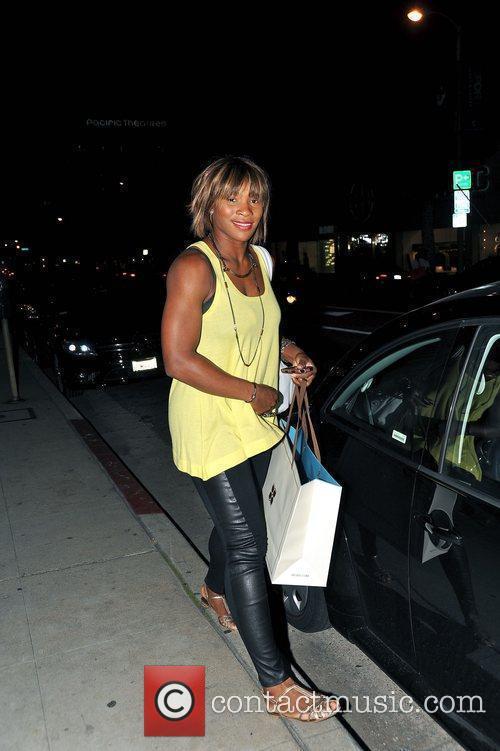 Serena Williams shopping on Robertson Boulevard