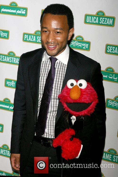 John Legend and Elmo 5