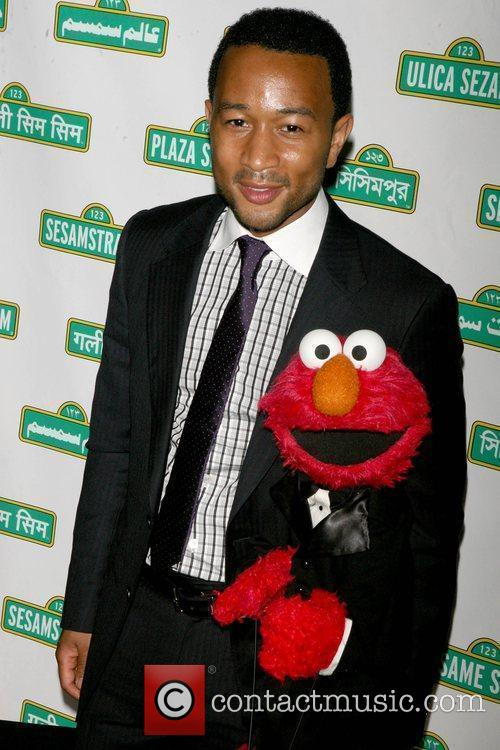 John Legend and Elmo 4