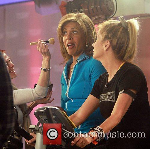 Hoda Kotb and Kathie Lee Gifford ride workout...