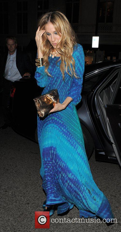 Sarah Jessica Parker arriving back at her hotel...