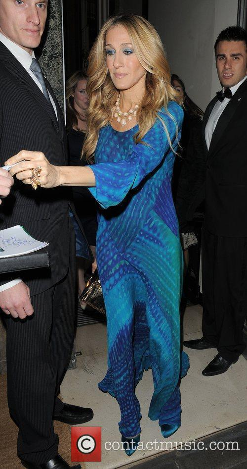 Sarah Jessica Parker leaving her hotel, to go...