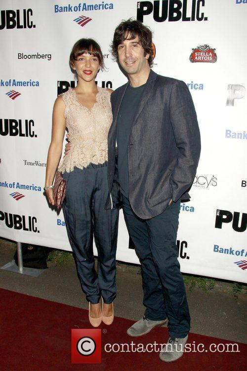 Zoe Buckman and David Schwimmer The Public Theater's...