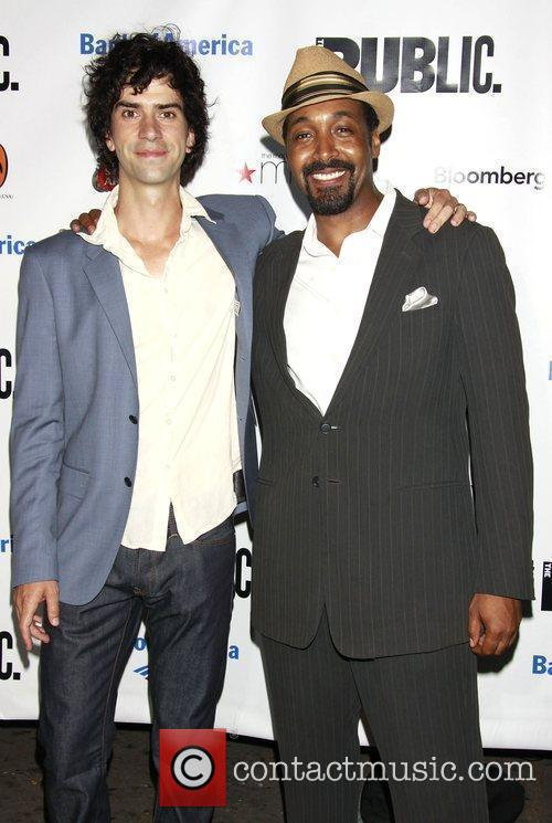 Hamish Linklater and Jesse L. Martin After party...