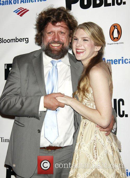 Oskar Eustis and Lily Rabe After party for...